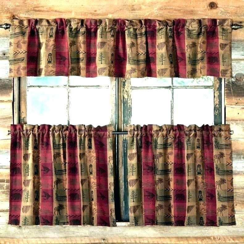 Rustic Curtains And Valances Swags Curtain Jabot Swag Regarding Red Rustic Kitchen Curtains (#23 of 30)