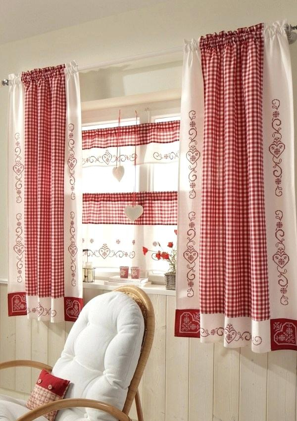 Rustic Kitchen Curtains – Altbox Within Red Rustic Kitchen Curtains (#24 of 30)
