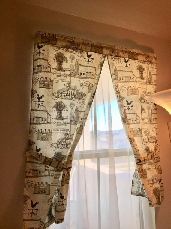 Popular Photo of Rustic Kitchen Curtains