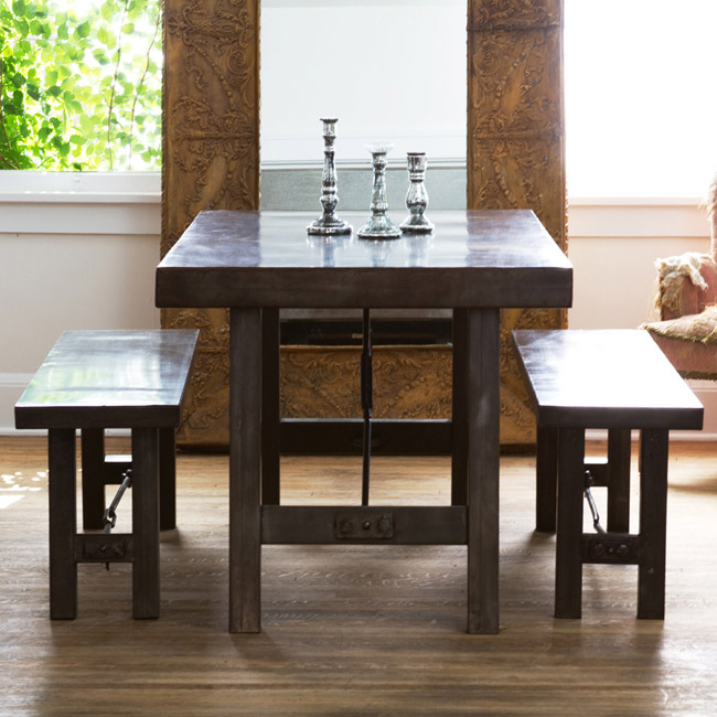 Rustic Mahogany Benchwright Dining Tables With Regard To Fashionable Turnbuckle Dining Table – Look 4 Less And Steals And Deals (View 20 of 20)