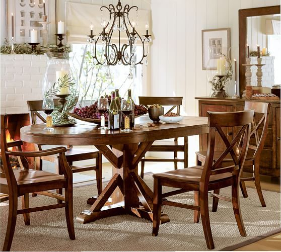 Inspiration about Rustic Mahogany Benchwright Pedestal Extending Dining Tables In Most Recent Benchwright Pedestal Extending Dining Table, Alfresco Brown (#2 of 20)