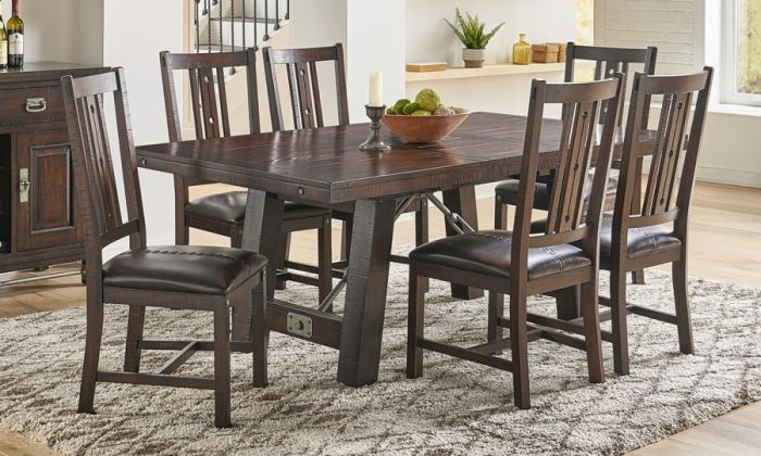 Inspiration about Rustic Mahogany Extending Dining Tables For 2019 Solid Mahogany Wood Sundance Extension Trestle Dining Table & Chair Set In  Rustic Mahogany Finish (#30 of 30)