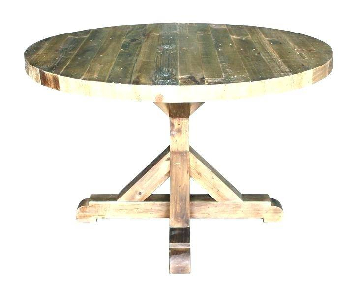 Rustic Round Dining Table Extension Reclaimed Wood Natural In Latest Hart Reclaimed Wood Extending Dining Tables (#27 of 30)