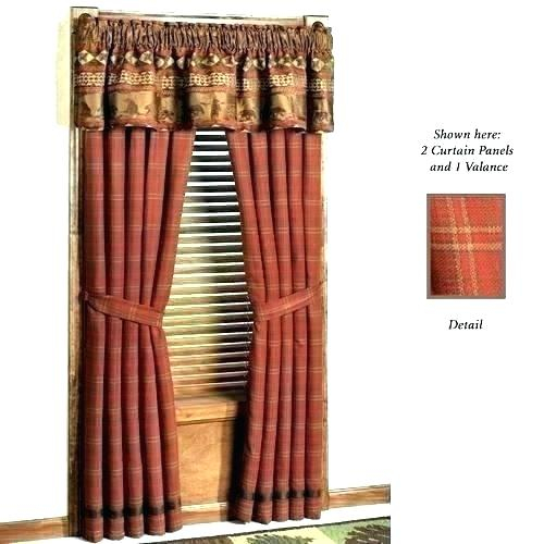 Rustic Valance Curtains Chic Shabby Floral Green Linen Valan Pertaining To Red Rustic Kitchen Curtains (#26 of 30)