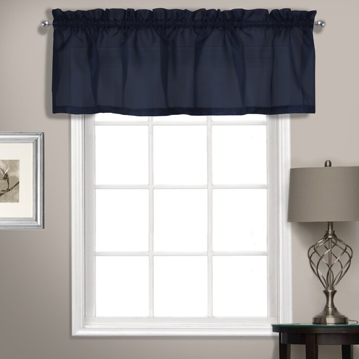 """Inspiration about Rutherford Sheer Voile Straight Topper 56"""" Window Valance Pertaining To Tailored Toppers With Valances (#27 of 30)"""