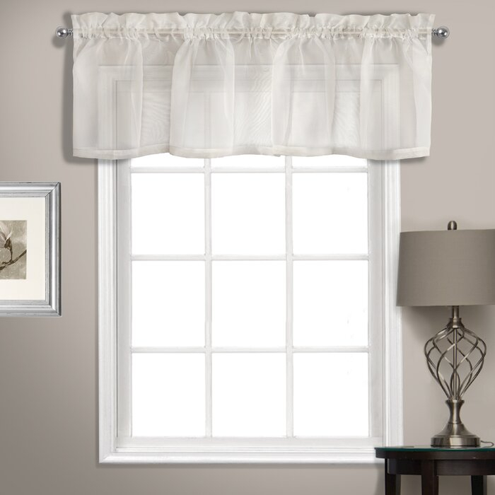 "Rutherford Sheer Voile Straight Topper 56"" Window Valance With Luxury Light Filtering Straight Curtain Valances (View 20 of 47)"