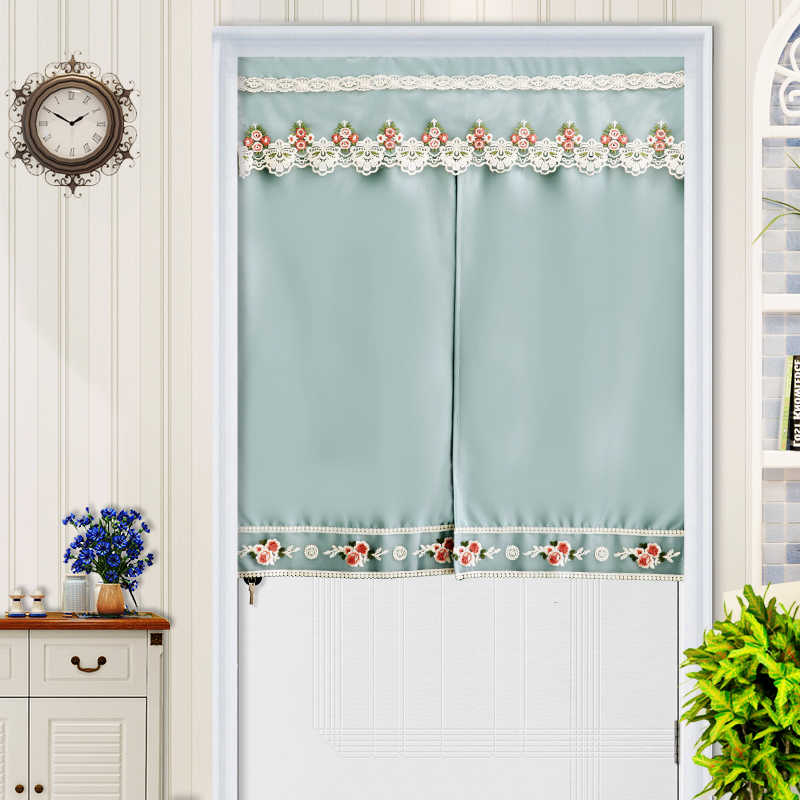 Inspiration about Rzcortinas Short Curtains Flower Birds Printed Door Curtain Throughout Embroidered Floral 5 Piece Kitchen Curtain Sets (#30 of 30)