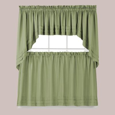 Saturday Knight Gentle Wind Jade Polyester Rod Pocket Tier In Pleated Curtain Tiers (View 36 of 50)