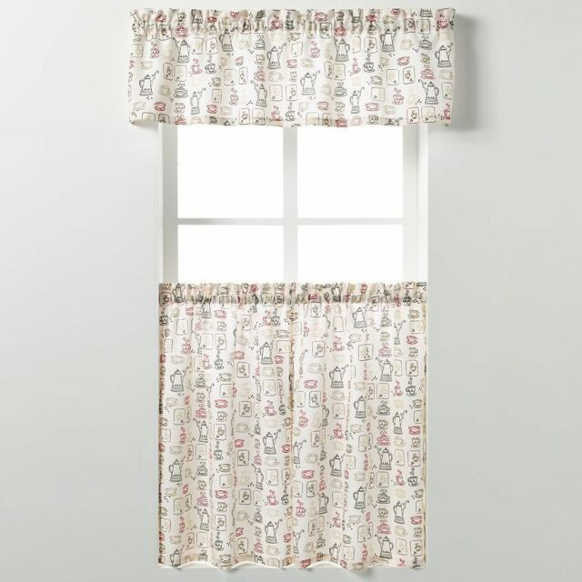 "Saturday Knight Ltd Tier Curtain & Valance Set 58"" Wide With Regard To Dexter 24 Inch Tier Pairs In Green (View 13 of 30)"