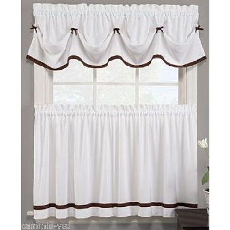 Popular Photo of Classic Black And White Curtain Tiers