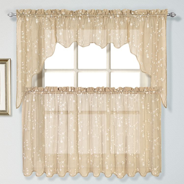 Savannah Curtains Are A Casual Addition To Any Window Within Floral Embroidered Sheer Kitchen Curtain Tiers, Swags And Valances (View 37 of 50)