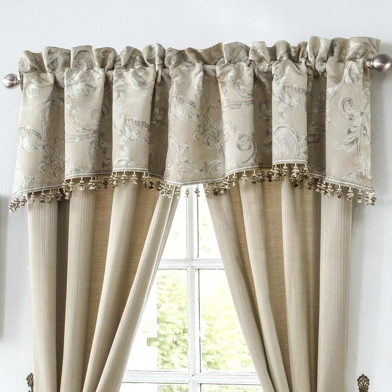 Scalloped Valance In Check Scalloped Swag Sets (View 29 of 30)