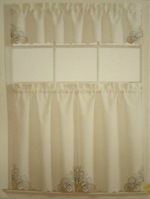 Sea Turtle Window Tier & Valance Set – Nautical Beach Intended For Coastal Tier And Valance Window Curtain Sets (View 24 of 30)