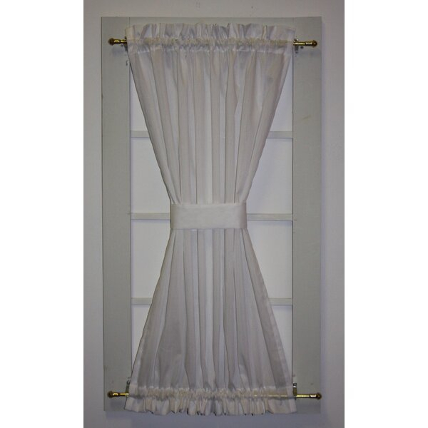 Semi Sheer Door Panels | Wayfair With Regard To Ivory Micro Striped Semi Sheer Window Curtain Pieces (#21 of 50)