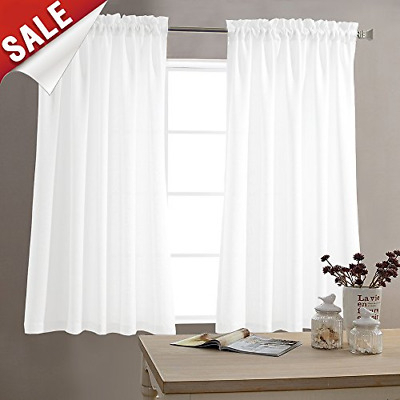 Semi Sheer Rod Pocket Tier Curtains Short Valance Curtain With Ivory Micro Striped Semi Sheer Window Curtain Pieces (View 49 of 50)