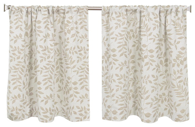 "Serene Cafe Kitchen Curtain Tiers, Linen, 30""x24"" Pair Inside Kitchen Curtain Tiers (View 14 of 50)"