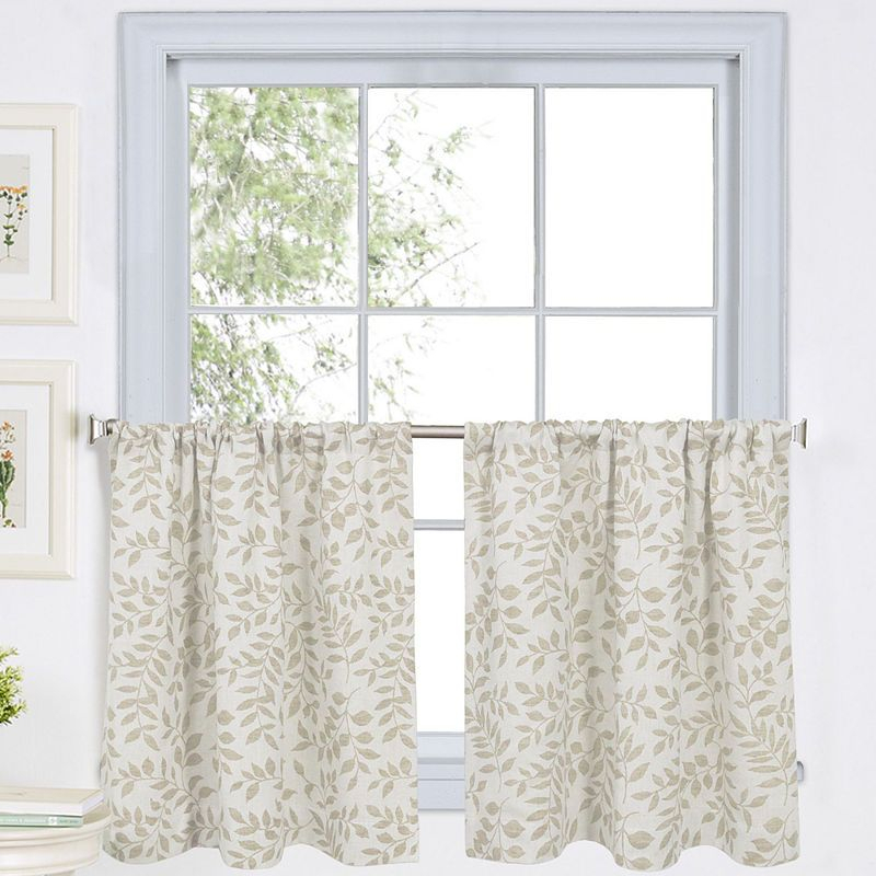 Serene Rod Pocket Window Tiers | Products | Kitchen Curtains Inside Serene Rod Pocket Kitchen Tier Sets (#27 of 30)