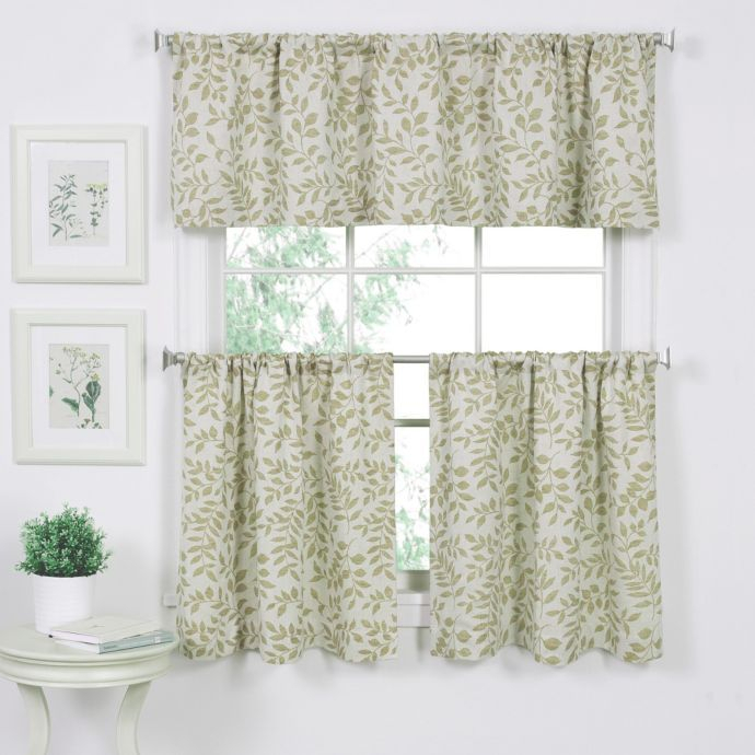 Serene Window Curtain Valance In Sage In 2019 | Curtains Inside Serene Rod Pocket Kitchen Tier Sets (#28 of 30)