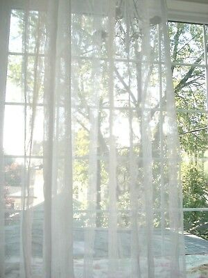 Set Of 2 Laura Ashley White Ivory Textured Stripe Semi Sheer With Ivory Micro Striped Semi Sheer Window Curtain Pieces (#28 of 50)