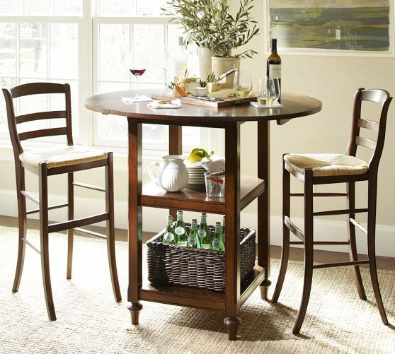 Shayne Drop Leaf Bar Height Table (View 14 of 20)