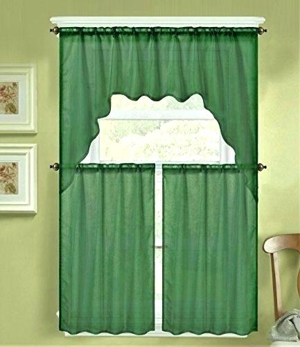 Sheer Swag Valances – Jjhome Within Scroll Leaf 3 Piece Curtain Tier And Valance Sets (View 23 of 50)