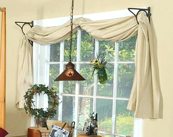Sheer Swags For Windows – Uknatura With Regard To Ivory Micro Striped Semi Sheer Window Curtain Pieces (View 14 of 50)