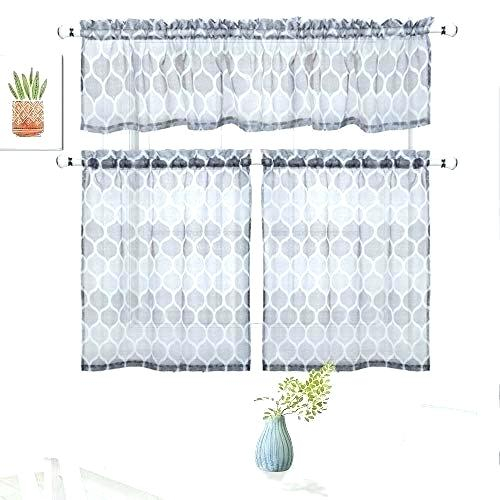 Sheer Tier Curtains – Conor425 For Ivory Micro Striped Semi Sheer Window Curtain Pieces (#39 of 50)