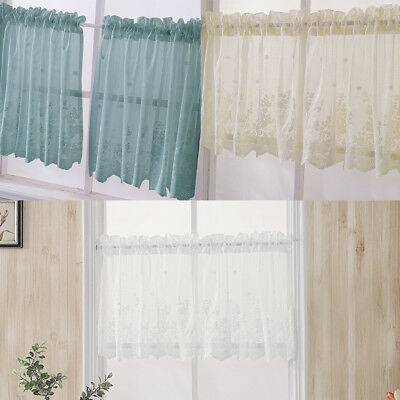 Sheer Voile Vertical Ruffle Window Kitchen Curtain Tiers Or With Regard To Navy Vertical Ruffled Waterfall Valance And Curtain Tiers (View 21 of 30)