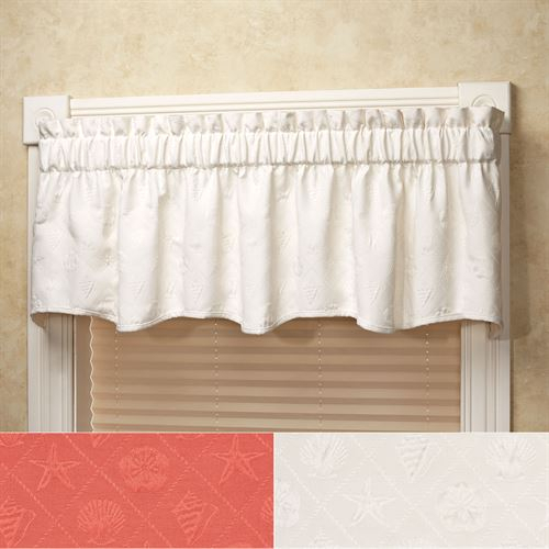 Shell Trellis Matelasse Scalloped Window Valance With Regard To Trellis Pattern Window Valances (#19 of 30)