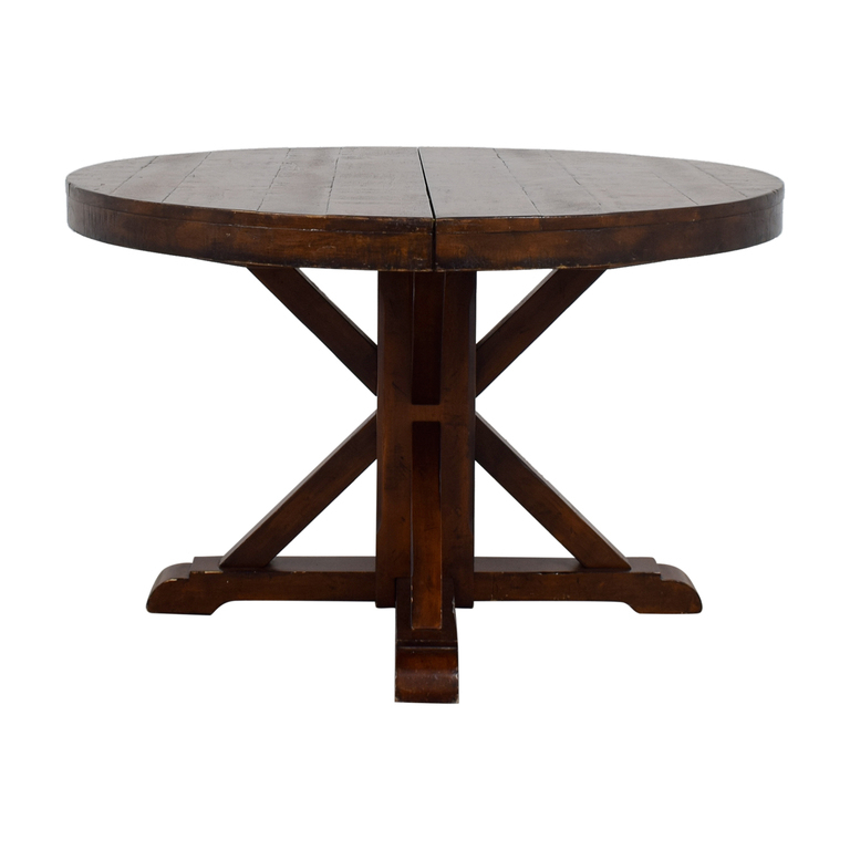 Shop Round X: Second Hand Furniture On Sale Intended For Trendy Blackened Oak Benchwright Extending Dining Tables (View 11 of 20)