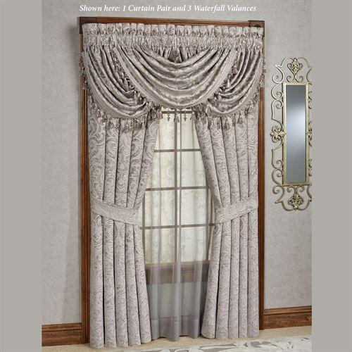 Sicily Silver Gray Medallion Window Treatmentj Queen New York Pertaining To Medallion Window Curtain Valances (#38 of 48)