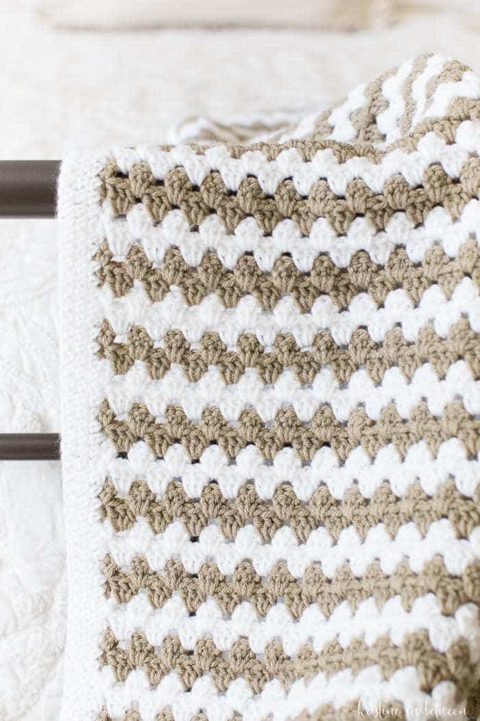 Simple Granny Stripe Afghan | Kristine In Between For Cotton Classic Toast Window Pane Pattern And Crotchet Trim Tiers (View 36 of 50)
