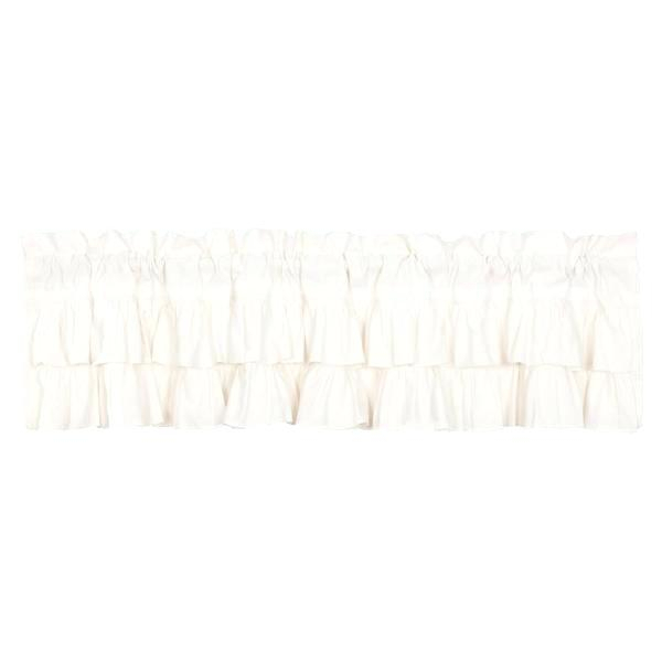 Simple Life Flax Antique White Ruffled Valance Primitive Within Simple Life Flax Tier Pairs (#20 of 30)
