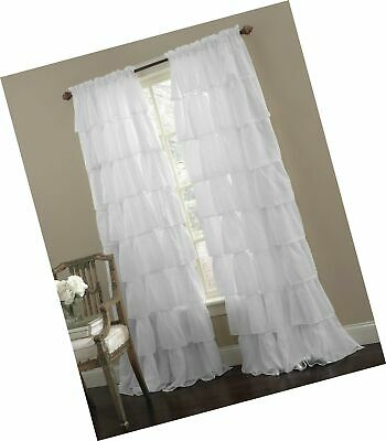 Small Multilayers Voile Sheer Fabric Half Window Curtain With Elegant Crushed Voile Ruffle Window Curtain Pieces (View 40 of 45)
