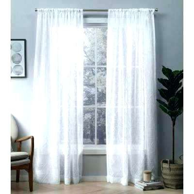 Small Sheer Curtains – Esdin Throughout Embroidered Rod Pocket Kitchen Tiers (View 34 of 49)