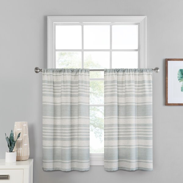 Small Window Kitchen Curtains | Wayfair Pertaining To Pintuck Kitchen Window Tiers (#34 of 43)