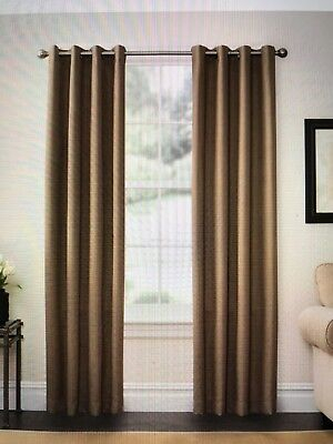 Solarshield® Oakwood 85 Inch Grommet Top Room Darkening Window Curtain  Panel In 885308485762 | Ebay Inside Oakwood Linen Style Decorative Curtain Tier Sets (#26 of 30)