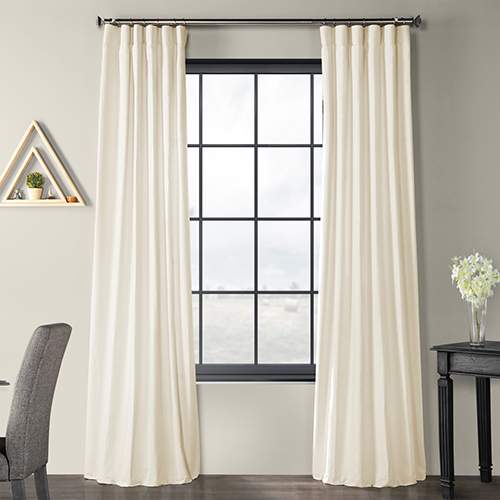 Solid Country Cotton Rod Pocket Ivory 50 X 120 Inch Curtain Single Panel Inside Rod Pocket Cotton Solid Color Ruched Ruffle Kitchen Curtains (#21 of 30)