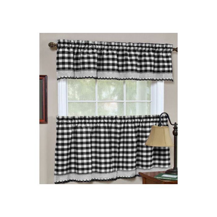 """Souri 52"""" Kitchen Curtain Throughout Semi Sheer Rod Pocket Kitchen Curtain Valance And Tiers Sets (View 29 of 50)"""
