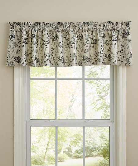 Split P Black & White Ava Valance Curtain Panel | Zulily With Grandin Curtain Valances In Black (View 27 of 30)