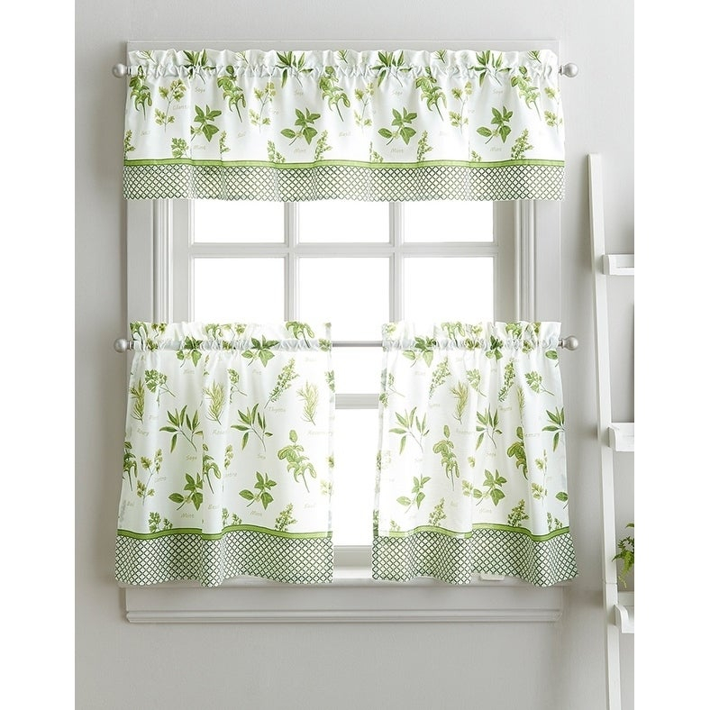 Spring Herb Garden Kitchen Curtain Tier Set – 36 In (View 46 of 49)