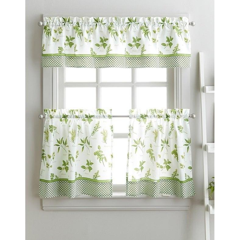 Spring Herb Garden Kitchen Curtain Tier Set – 36 In (#46 of 49)