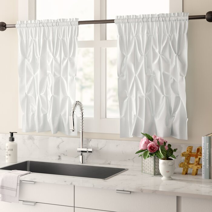 Stocksbridge Pintuck Kitchen Curtain With Regard To Pintuck Kitchen Window Tiers (#36 of 43)