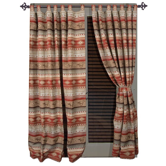Suhel Striped Tab Top Curtain Panels With Complete Cottage Curtain Sets With An Antique And Aubergine Grapvine Print (View 25 of 30)