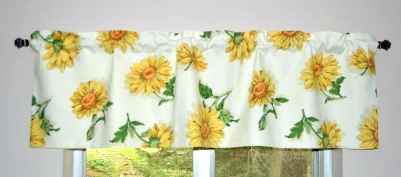 Sunflower Curtains Valances – Sarah Clarke In Sunflower Cottage Kitchen Curtain Tier And Valance Sets (#42 of 50)