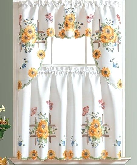 Sunflower Curtains Valances – Sarah Clarke Intended For Sunflower Cottage Kitchen Curtain Tier And Valance Sets (#43 of 50)
