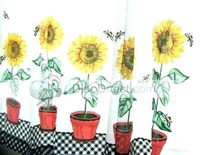 Sunflower Kitchen Curtains – Tallfloorvases (View 47 of 50)