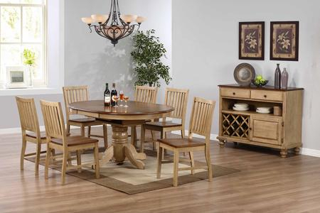 Sunset Trading Dlubr4260C60Srpw8Pc Throughout Current Brooks Round Dining Tables (#25 of 30)