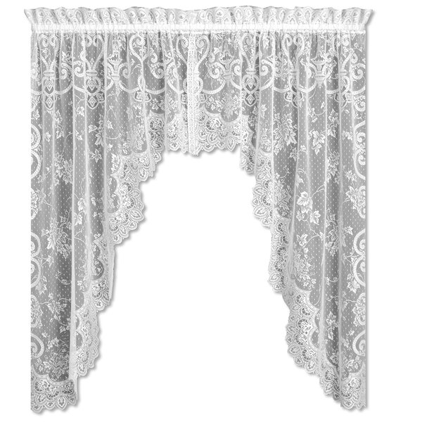 Swag And Tier Curtains | Wayfair With Regard To Chardonnay Tier And Swag Kitchen Curtain Sets (View 45 of 50)