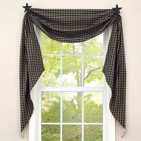Swag Country Curtains Farmhouse French Simple Life Flax Intended For Simple Life Flax Tier Pairs (View 26 of 30)